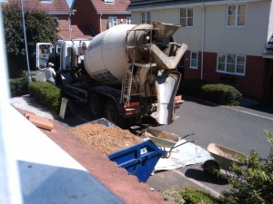 Cement Lorry Arrived
