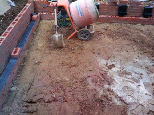 Installing Suspended Block And Beam Floor On A Damp Proof