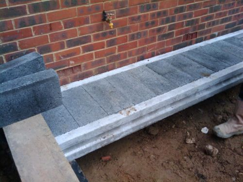 Installing suspended block and beam floor on a damp proof for Suspended concrete floor