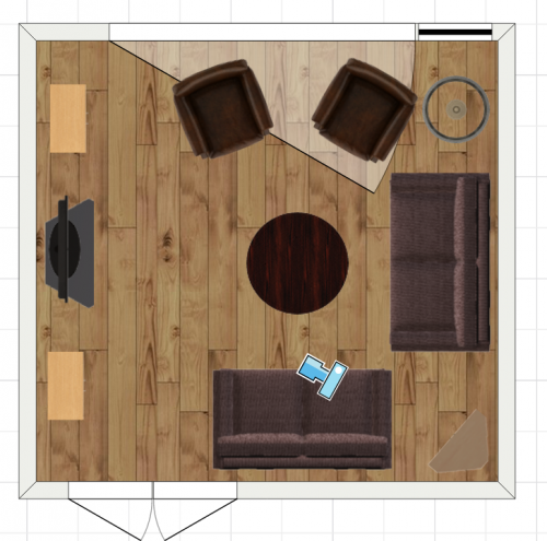 living room plan 2d