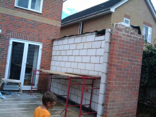 Bricklaying Complete Ready For The Padstones My Extension