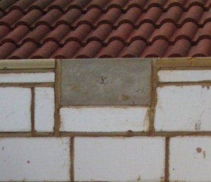 Padstone to support the steep roof