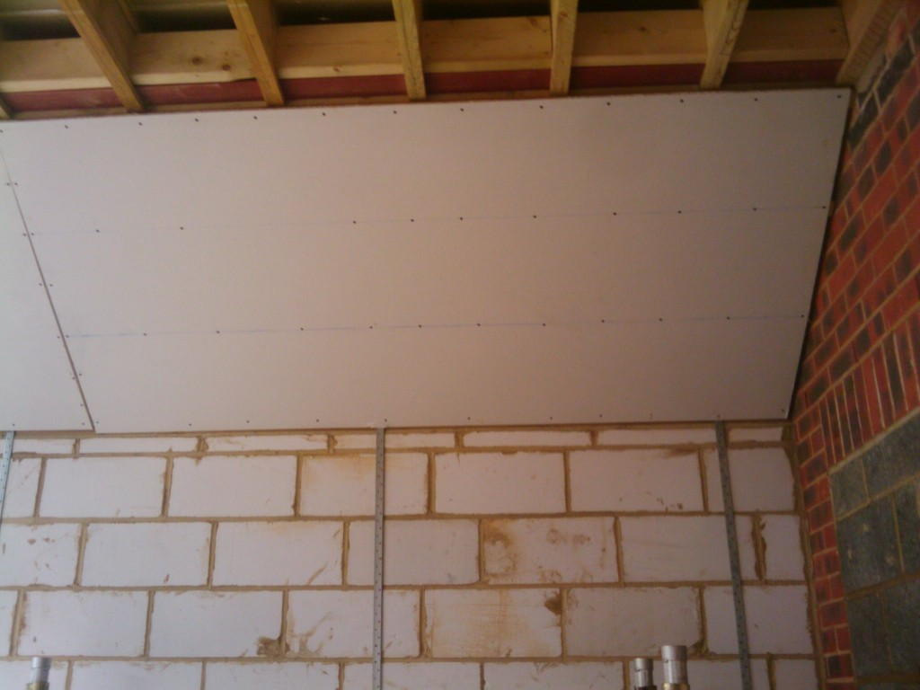 The first plaster board