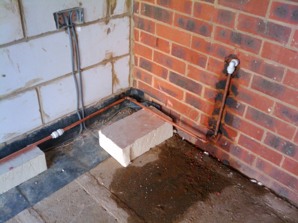 Outside tap plumbed in