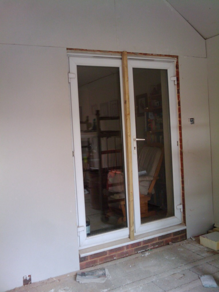 This door is coming out on Tuesday after the new French doors arrive