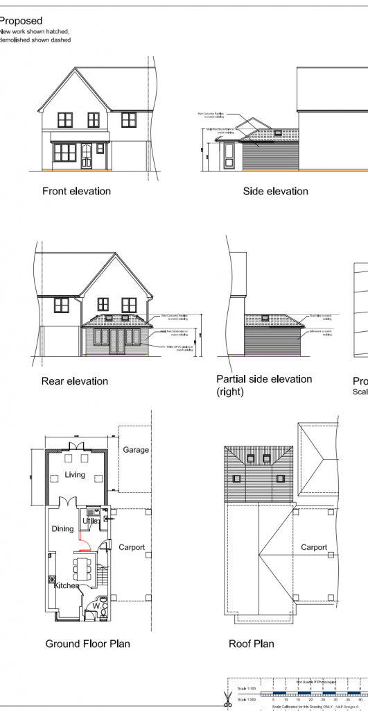 Superb The Planning Application Stage. Architect Designs Planning Stage Drawing