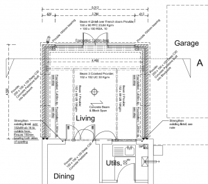Hiring an architect to draw the extension plans my extension for Construction plan drawing