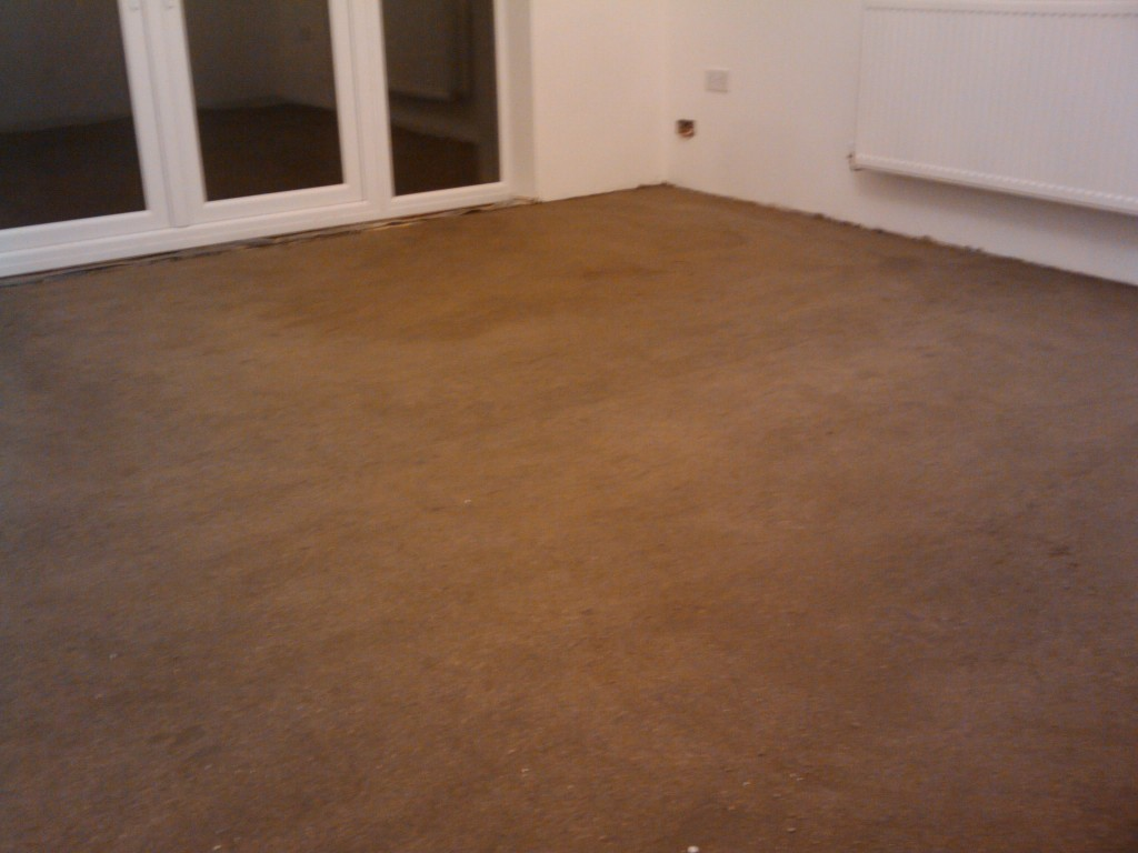 Screeded living room floor
