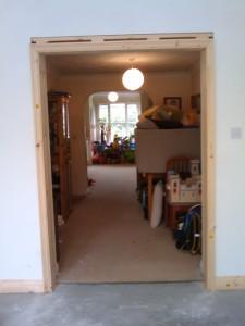 Door frame for internal doors