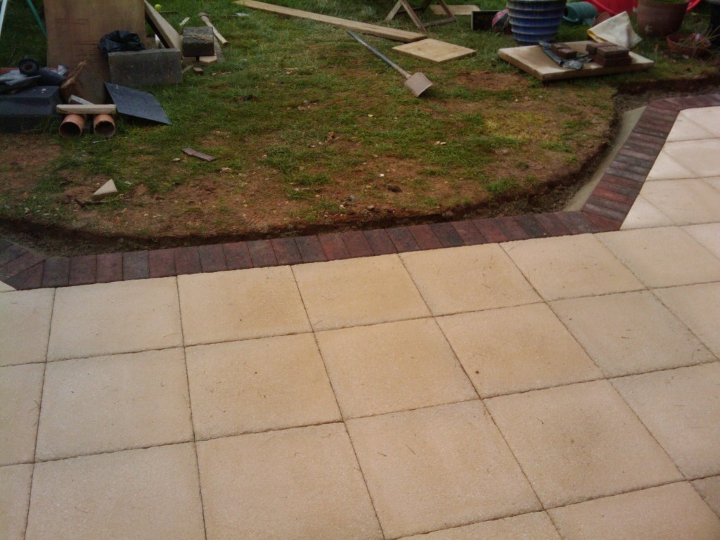 Patio almost finished