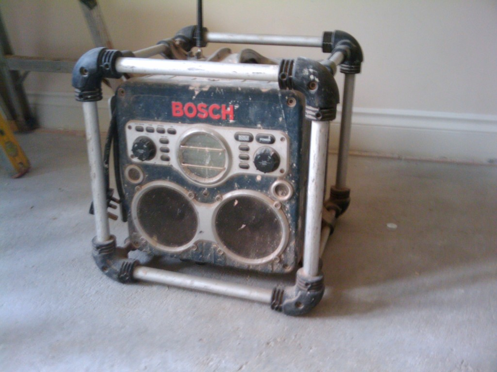 A builder's radio