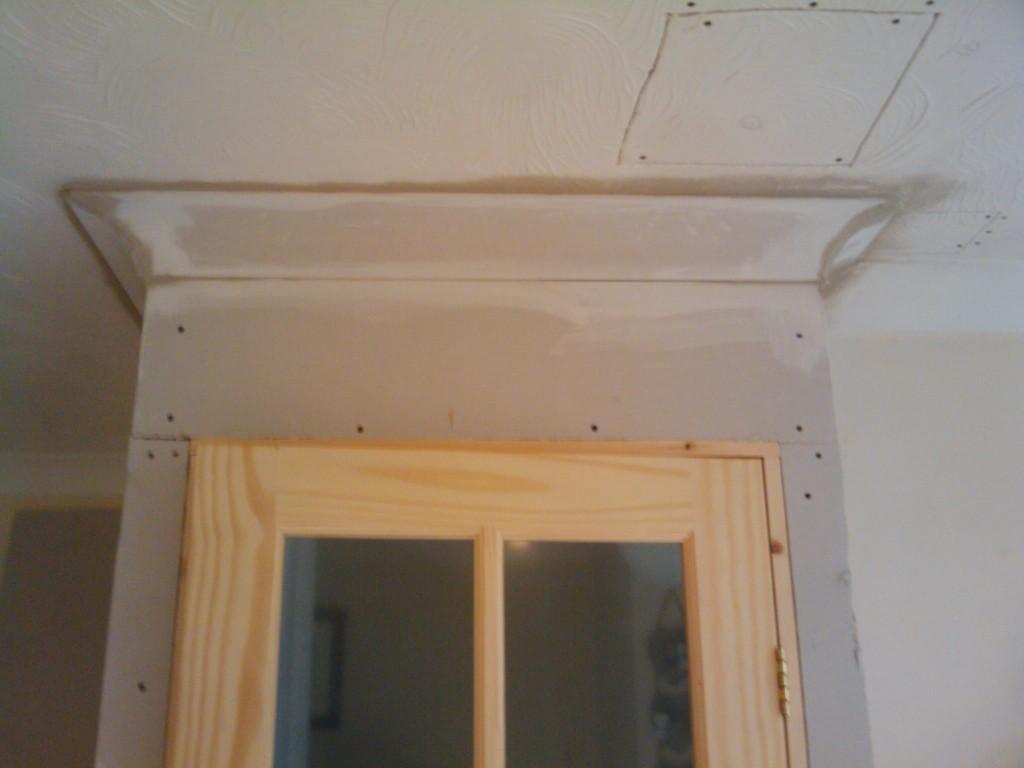 Cornice above the door