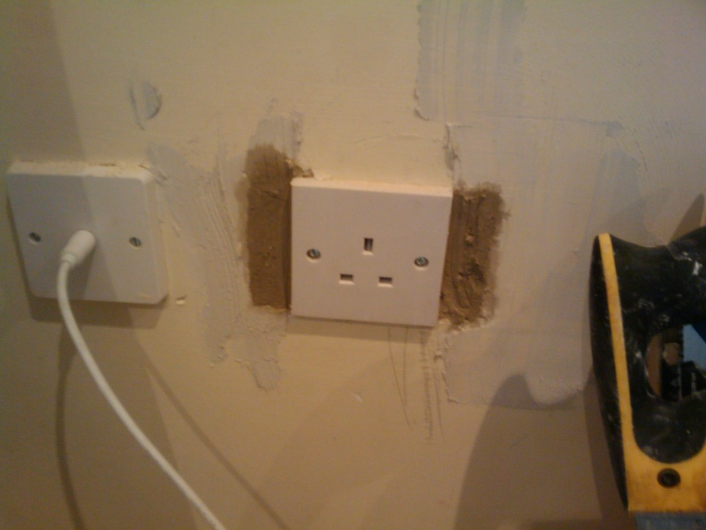 Double socket converted to single - for the fridge freezer