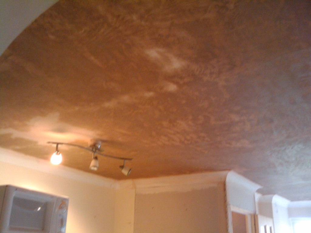 Plaster on the ceiling