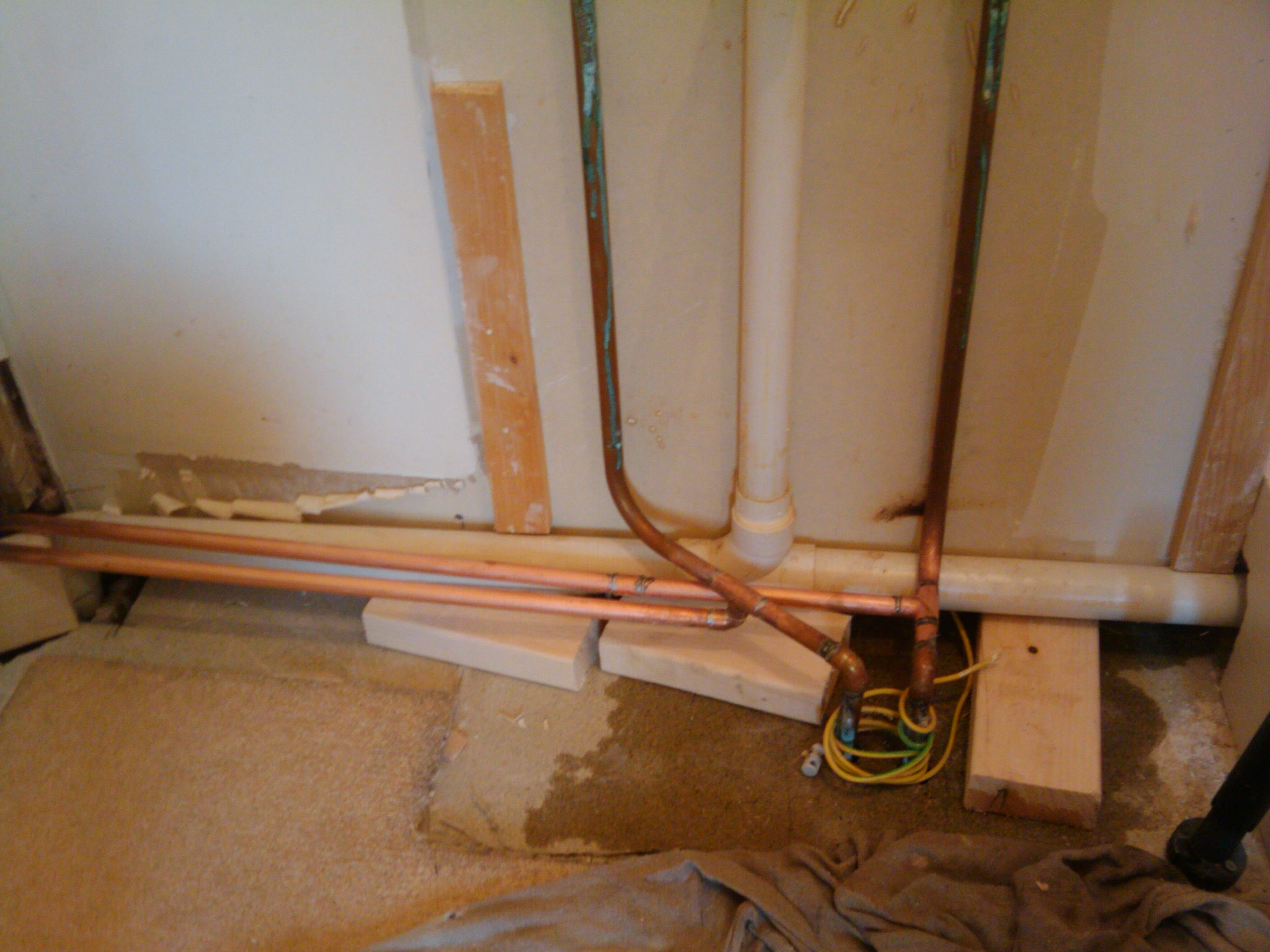 Day 45 Kitchen Plumbing And Gas Pipes Installed My