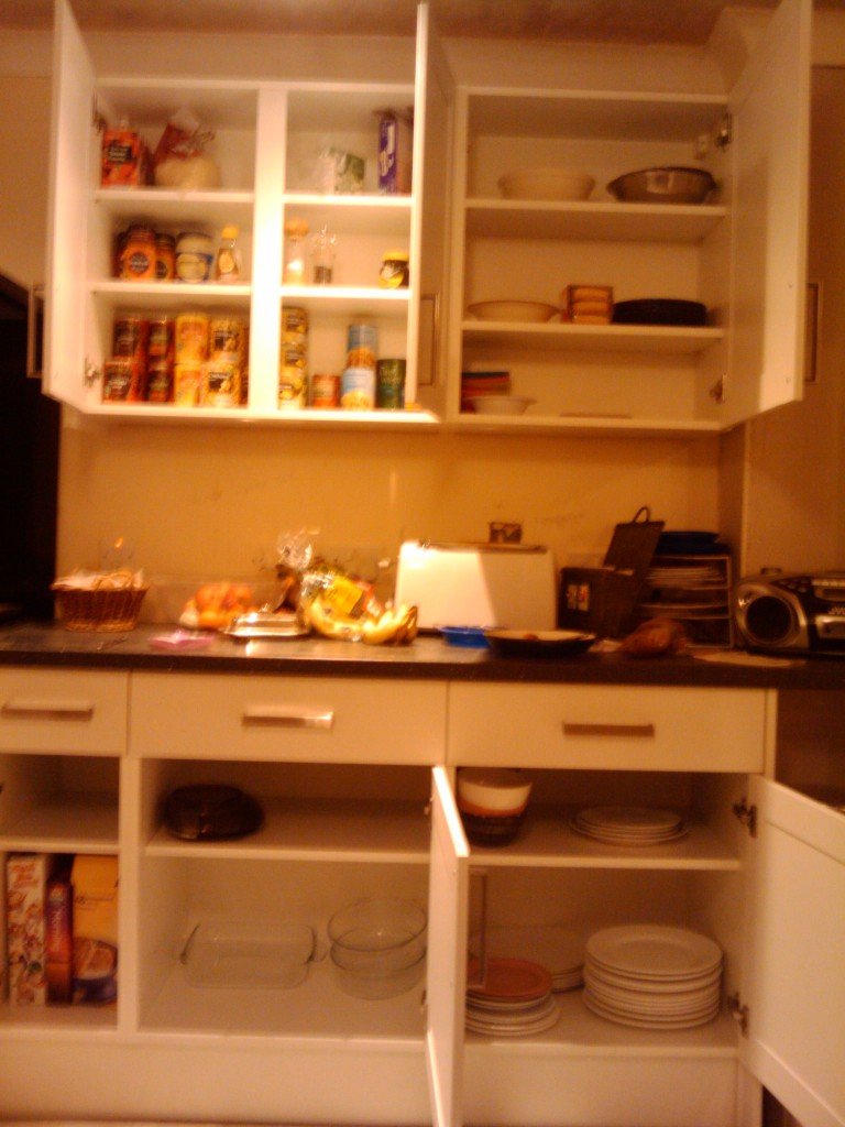 Starting to fill the new cupboards