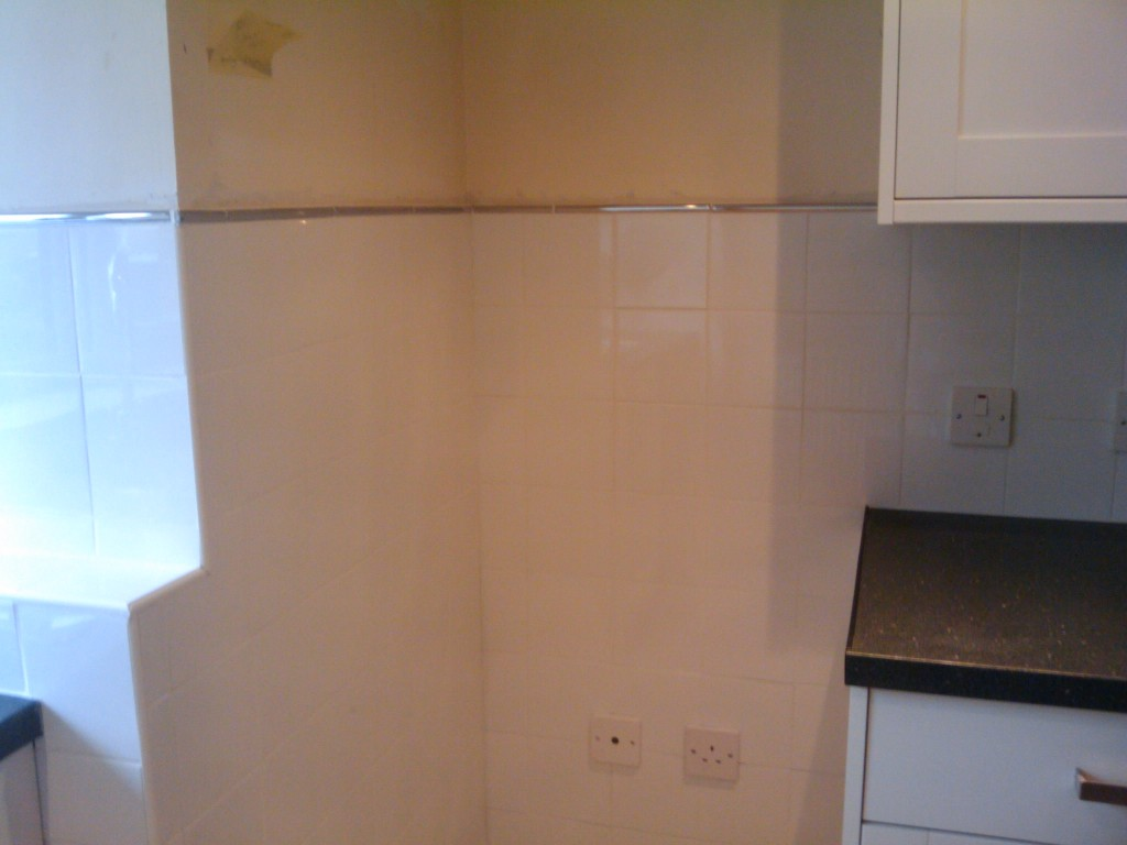 Tiling around fridge freezer area