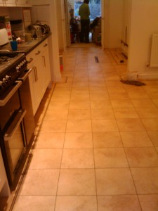 Kitchen and library / playroom tiled
