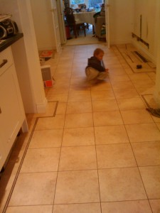 First break dancing on the tiles