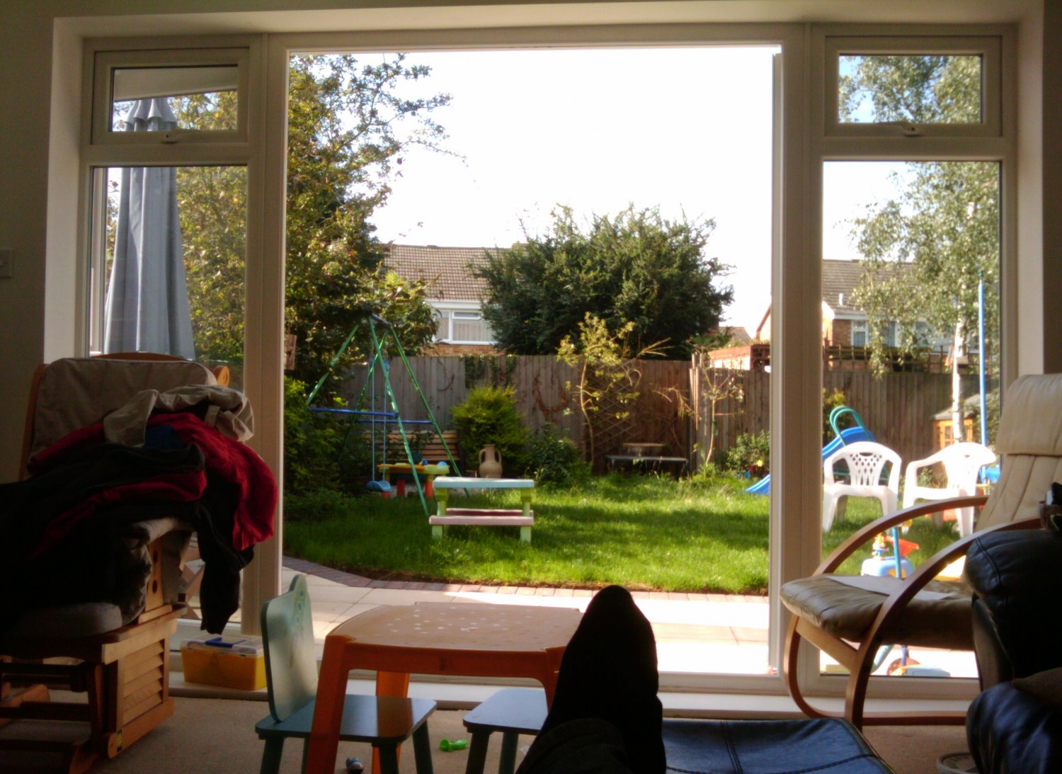 extension with large patio doors