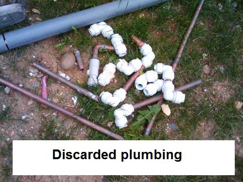 discarded plumbing