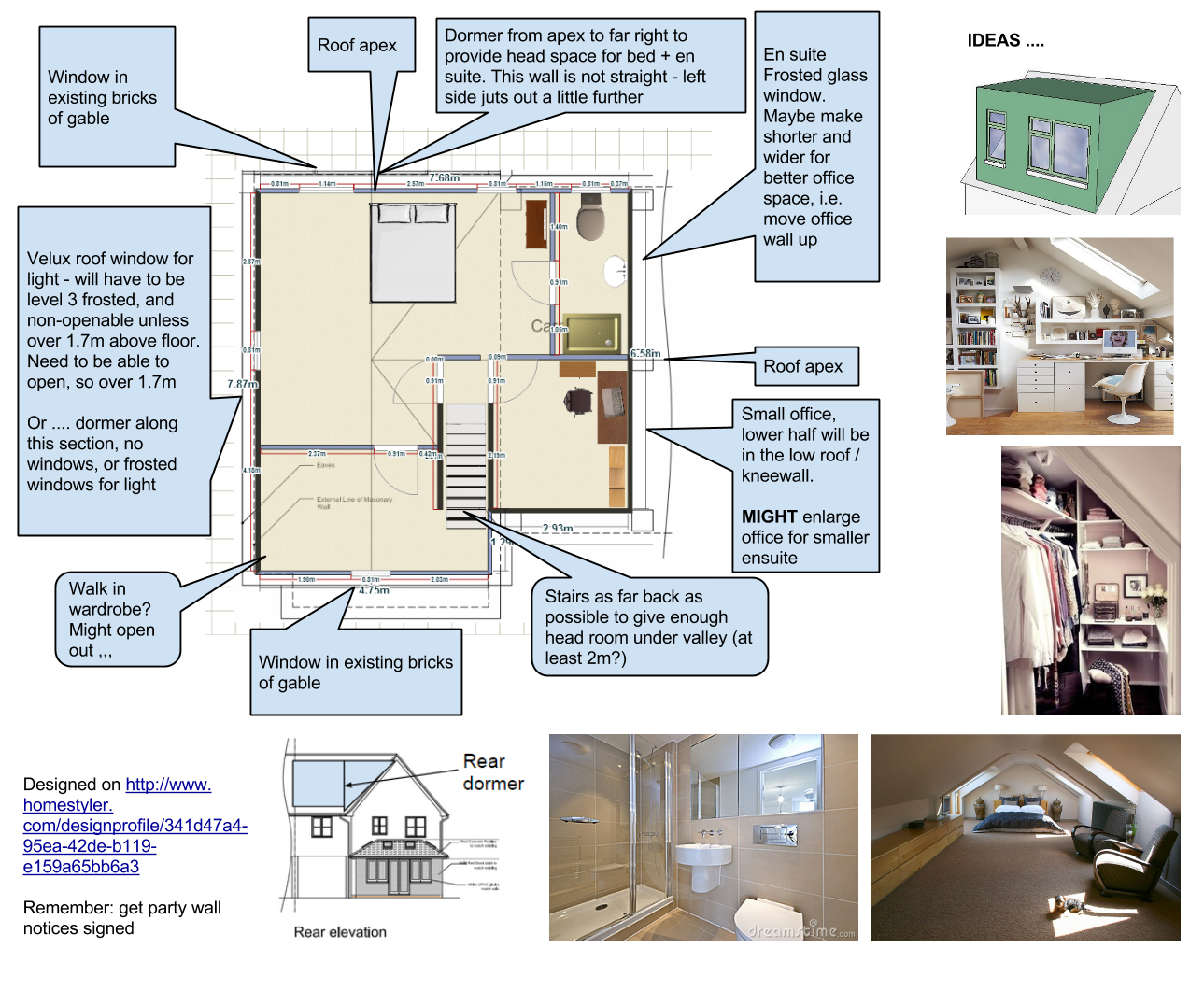 awesome jons loft plans with ensuite layout ideas - Planning An Ensuite