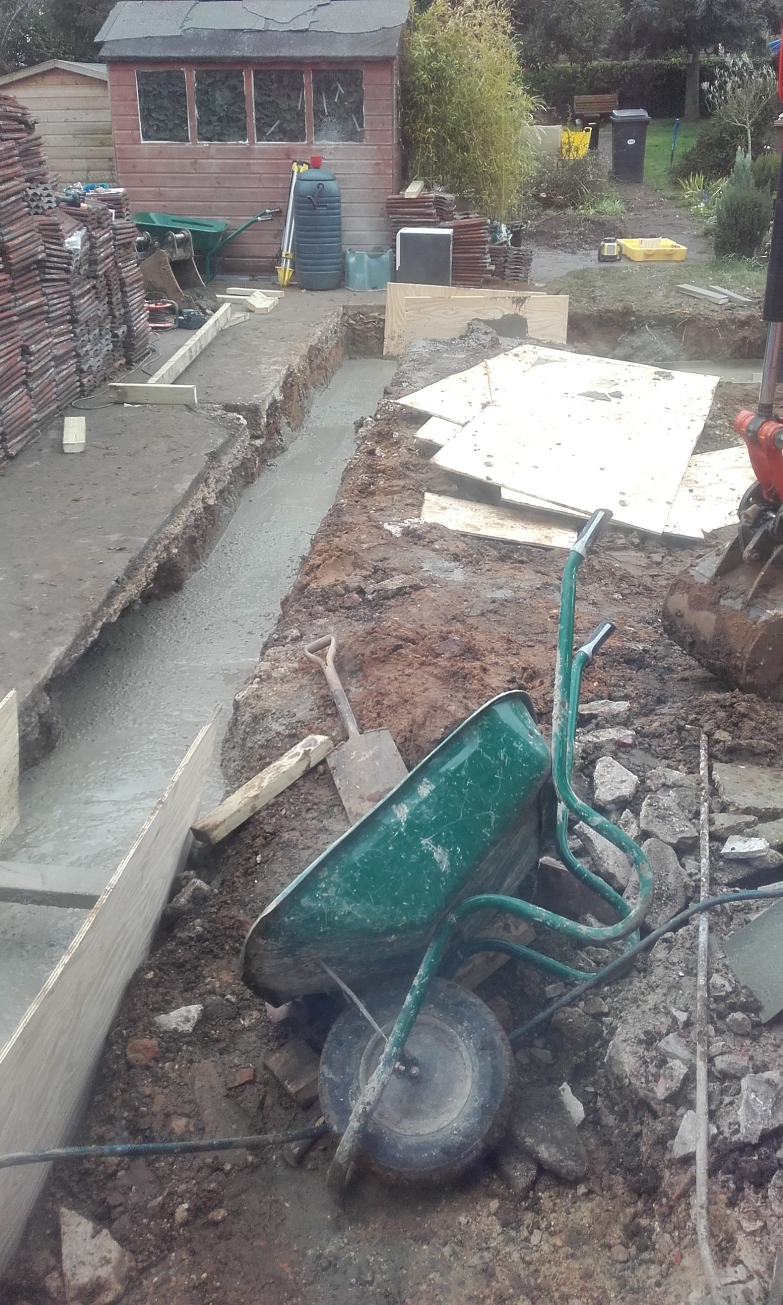 foundation concrete trench