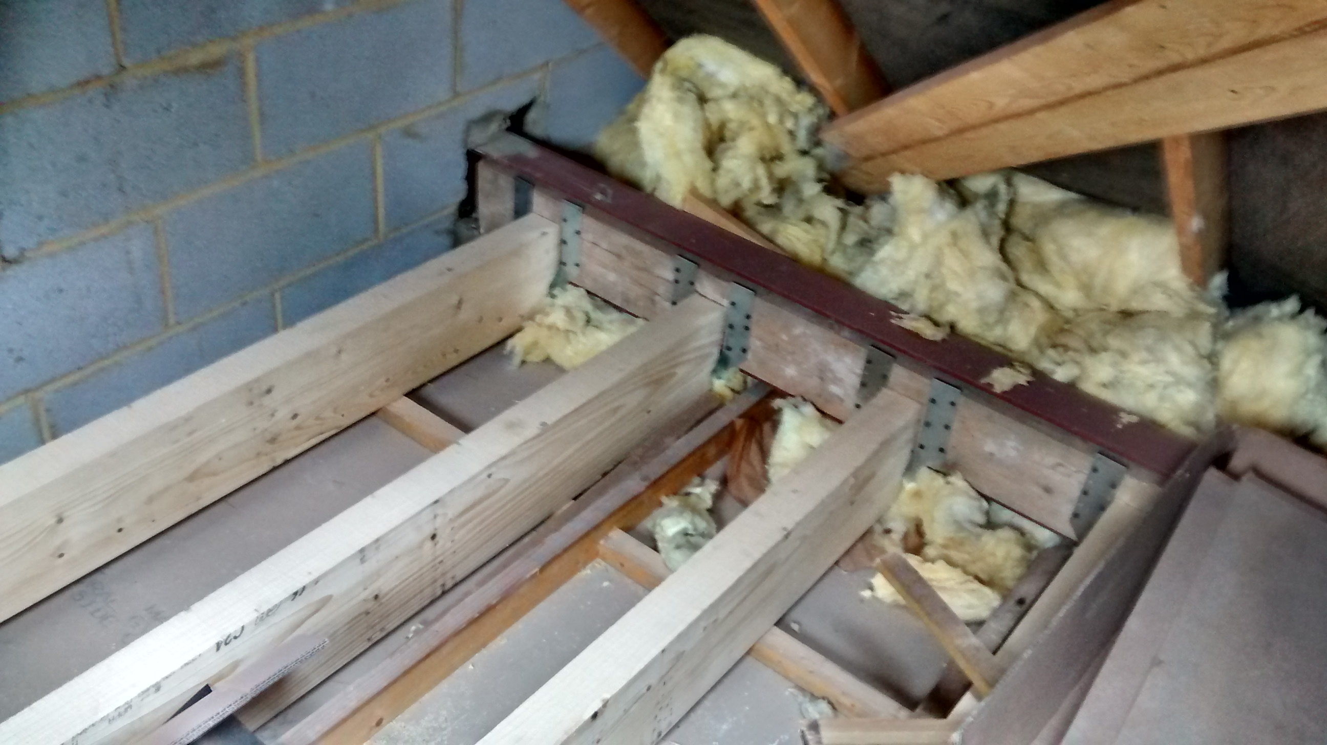 removing the web supports and installing floor joists - loft week 3