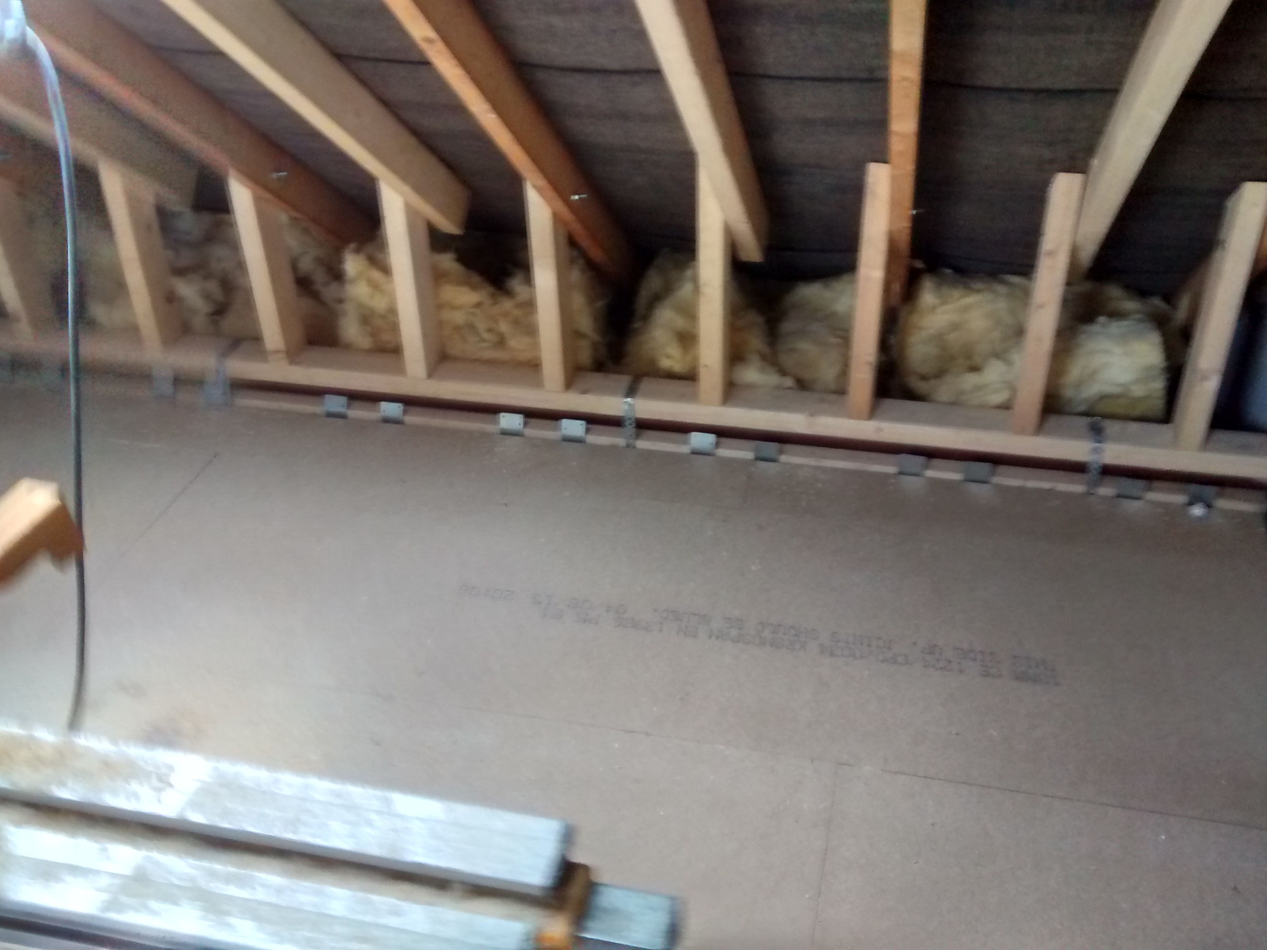 ... floorboards in loft ... & Floorboards Installed  Insulation and Plumbing Started - Loft Week ...