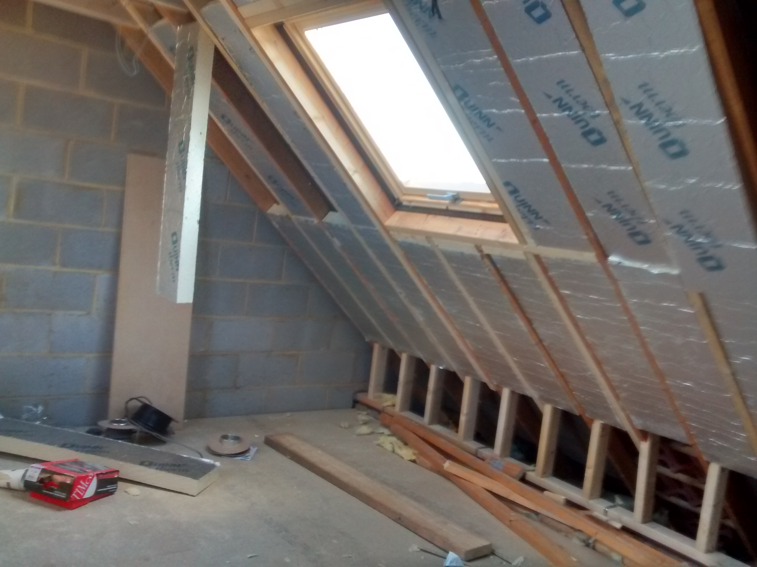 QuinnTherm insulation in roof