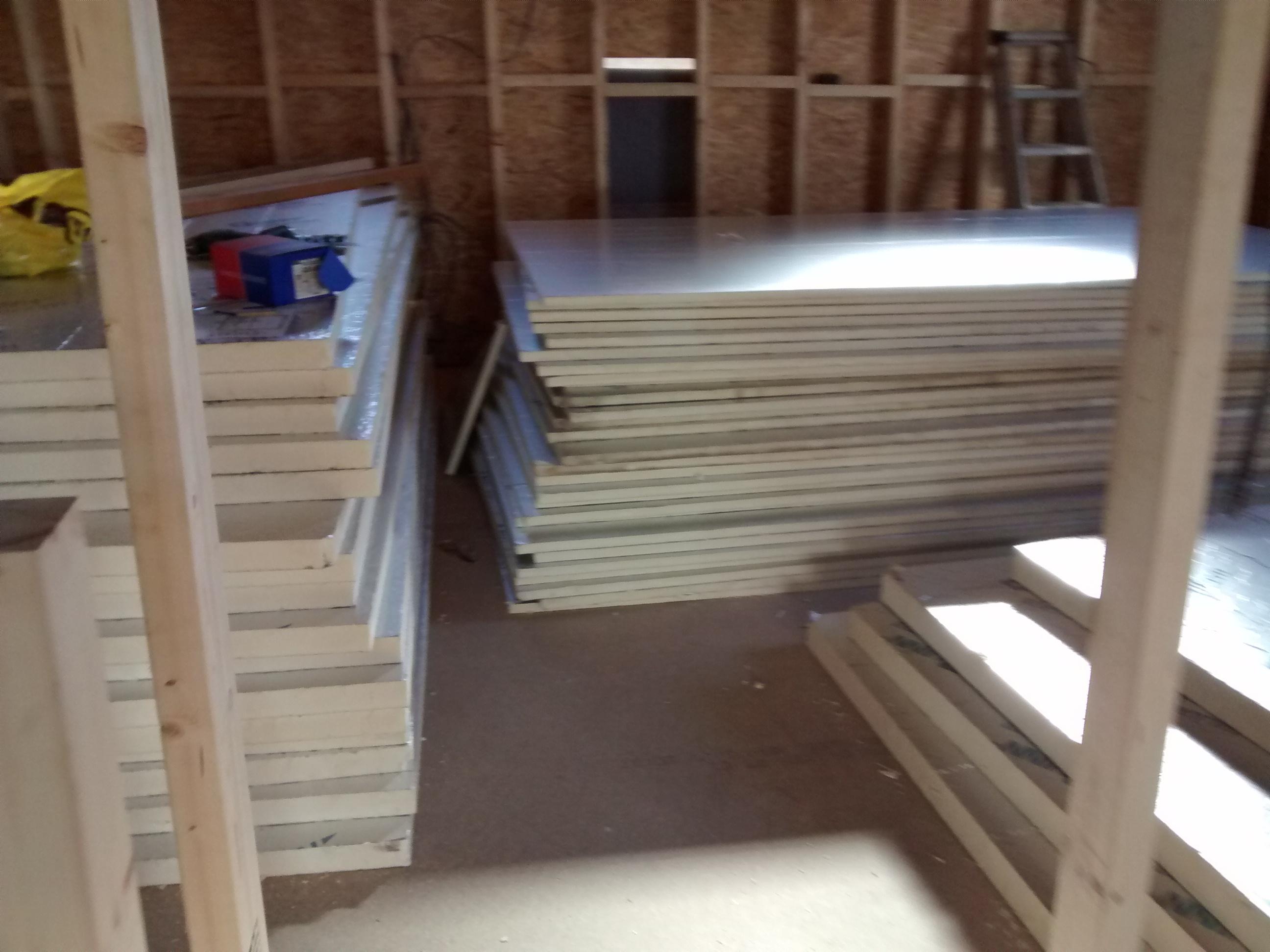 a tonne of insulation board