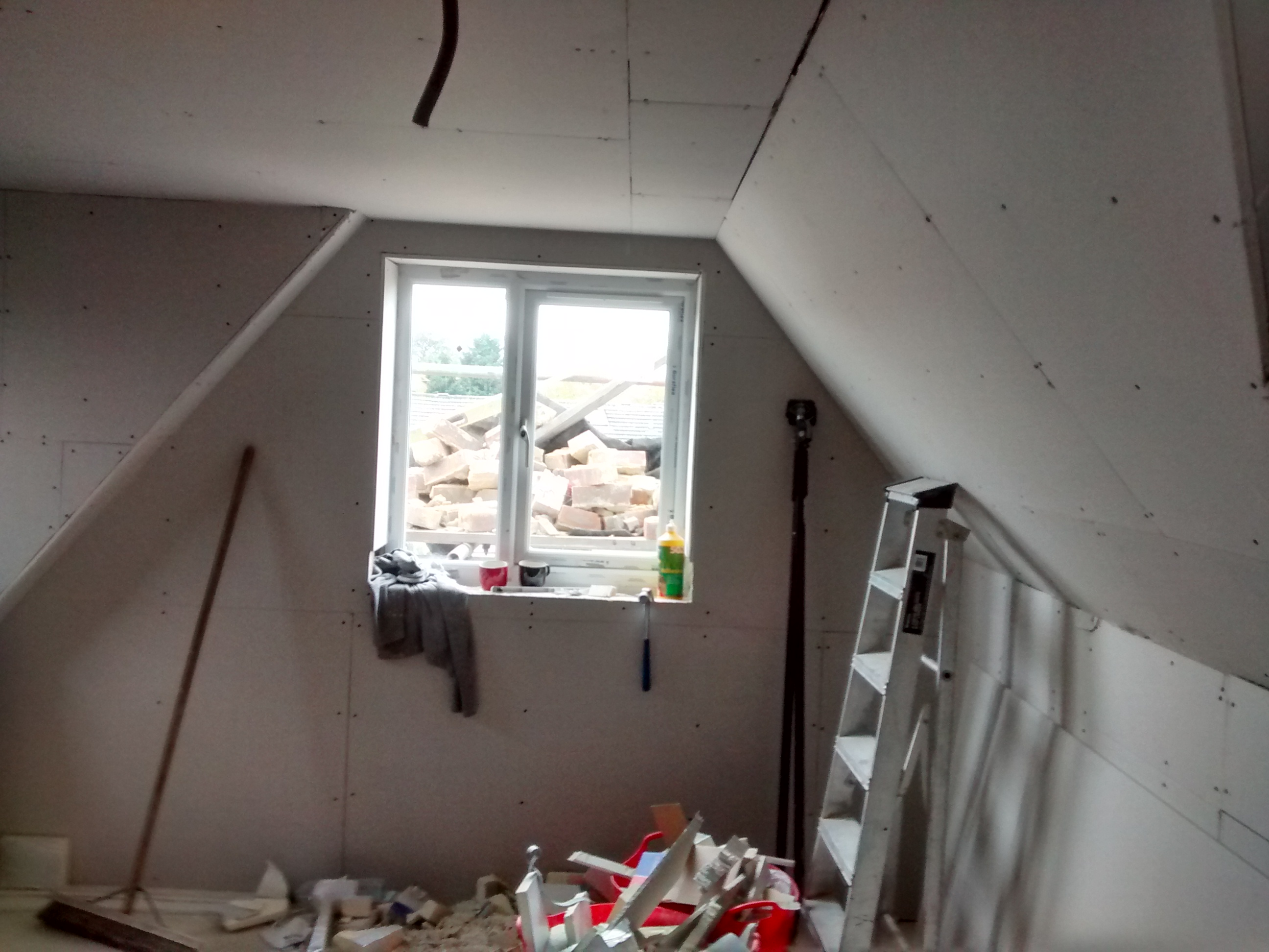 plasterboarded roof