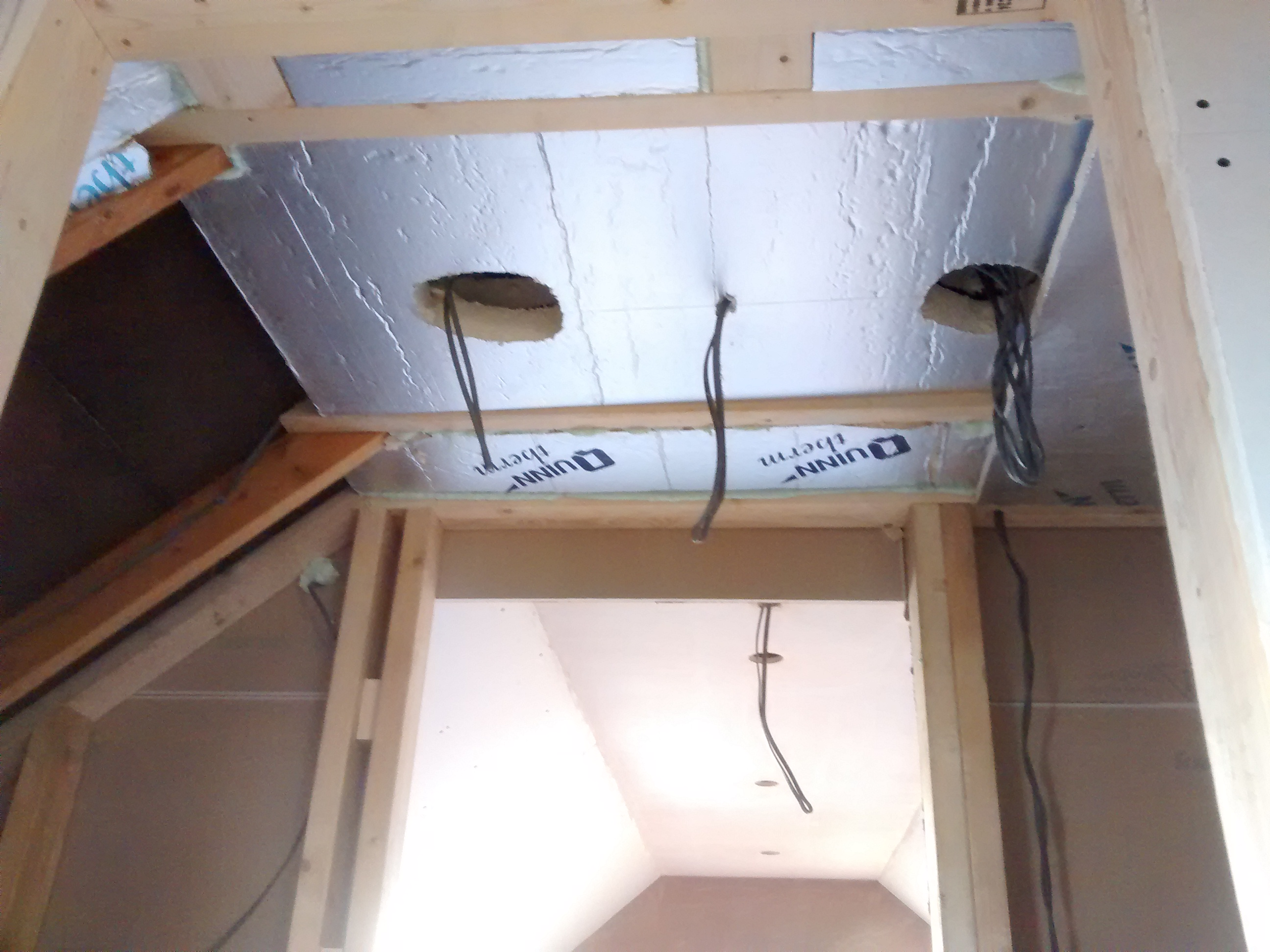 electrics for lights and smoke alarms