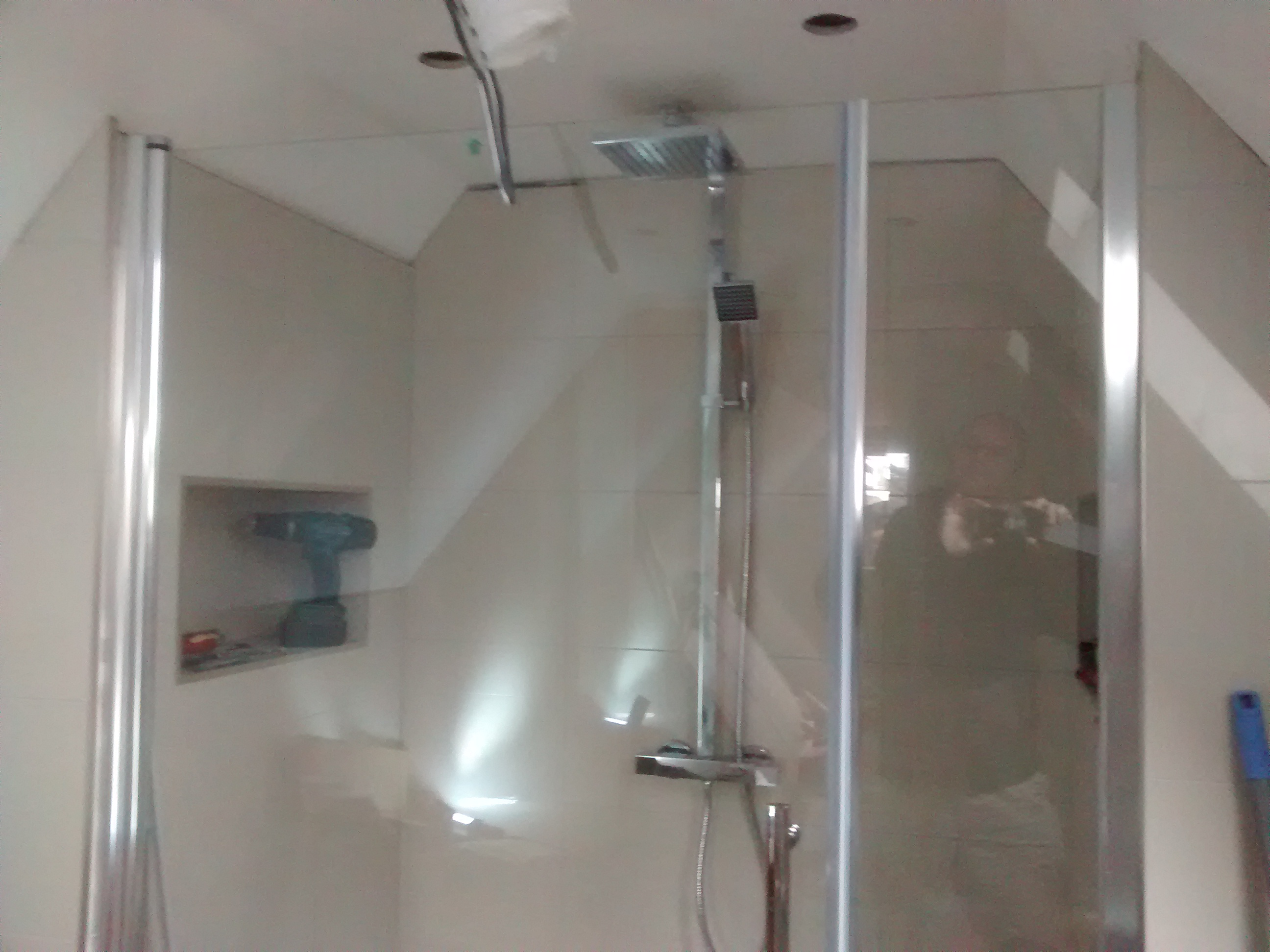 shower head and door fitted