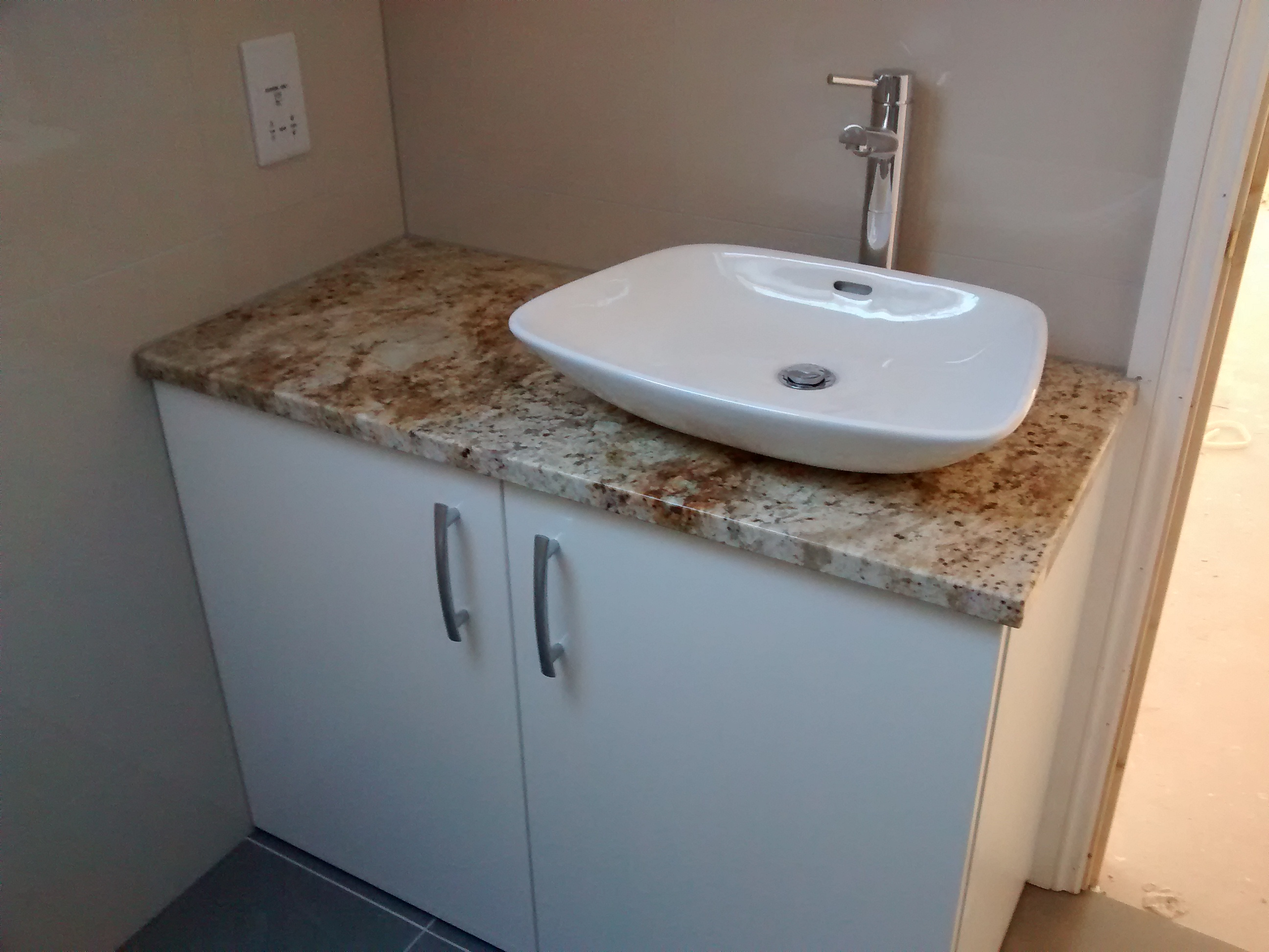 basin and unit installed