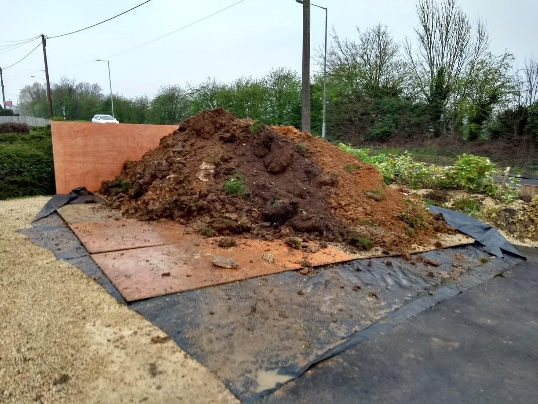 pile of mud