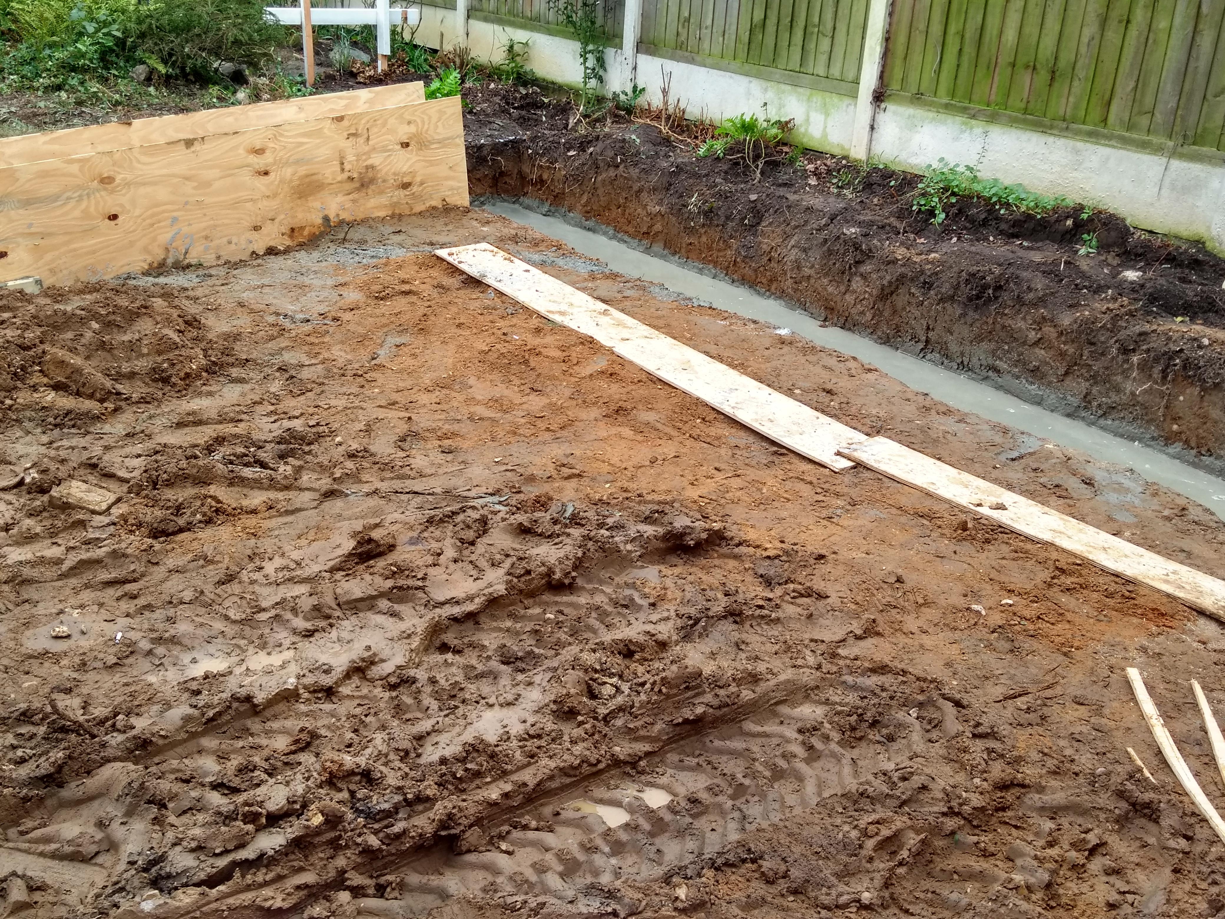 more soil removed for concrete slab