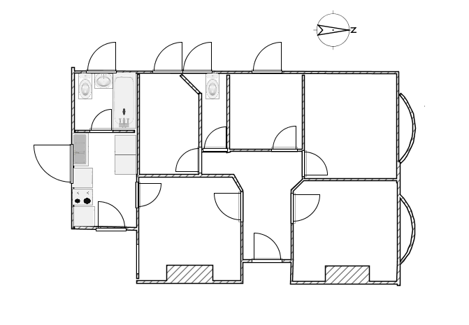 existing floor plan - ground floor and garage