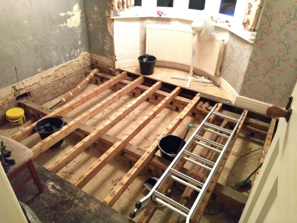 floorboards removed