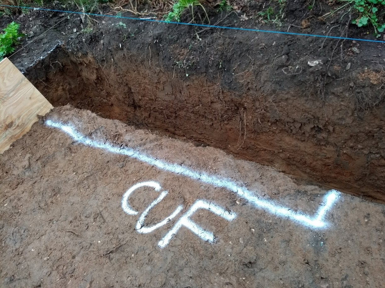 what is CUF building trench foundations